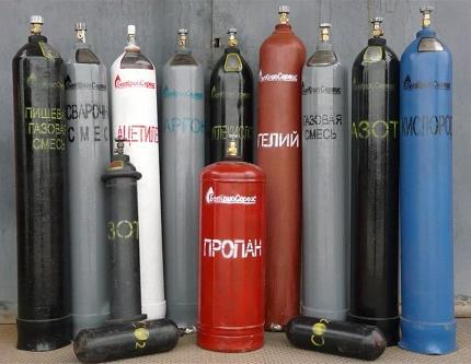 Peinture des bouteilles de gaz
