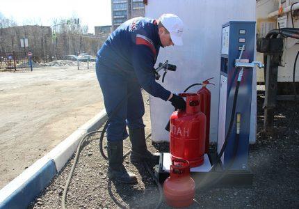 Remplissage du réservoir de gaz