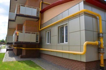 Gazéification d'un immeuble