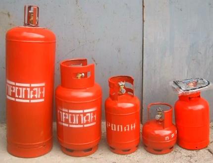 Plieniniai dujų balionai
