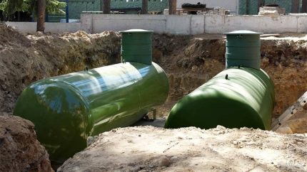 Installation of gas holders for autonomous gas supply