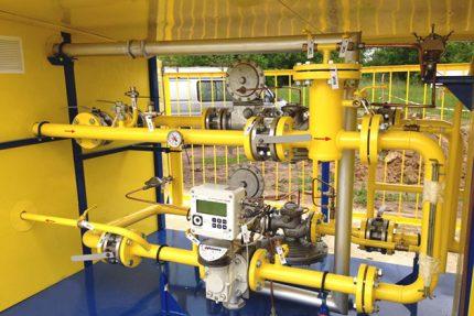 Gas metering point