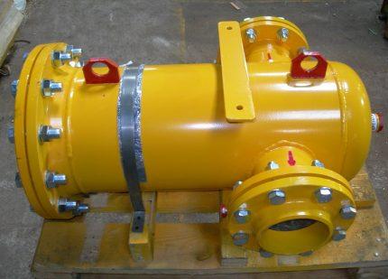 Gas flange filter