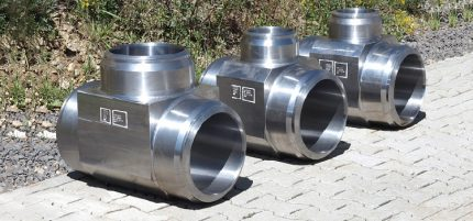 Tee for gas pipe
