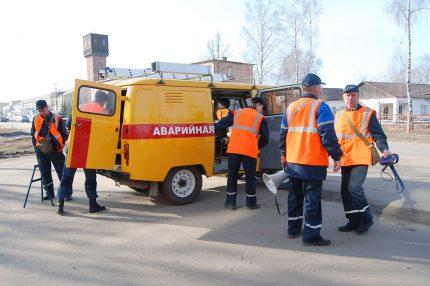 Dujų serviso darbuotojai