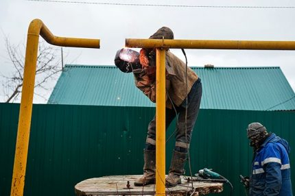 Insertion dans le gazoduc