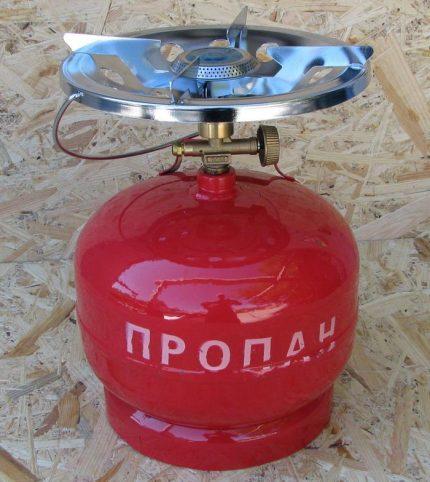 Dujų butelis su degikliu
