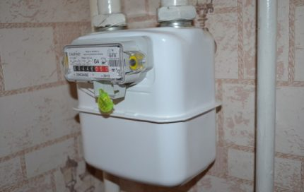 Membrane gas meter