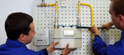 Dépose du compteur de gaz