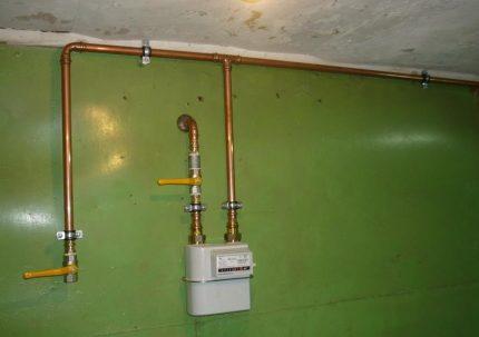 Compteur de gaz domestique