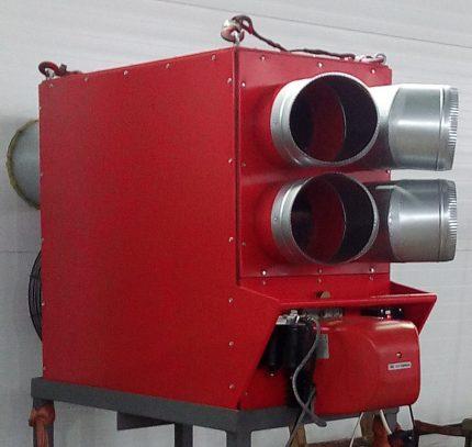Gas heat generator floor
