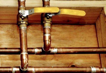 Kopparrör gasledning