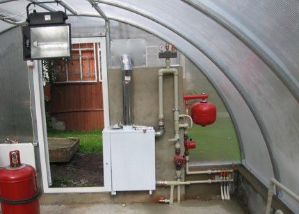 Option pour attacher une chaudière à gaz au sol