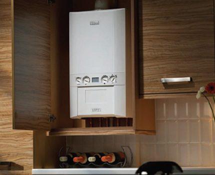 Option d'installation intégrée pour une chaudière à gaz murale
