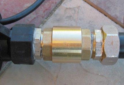 Povandeninio siurblio atbulinis vožtuvas