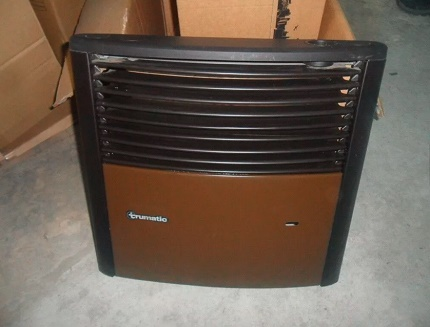 Gas heater for cars