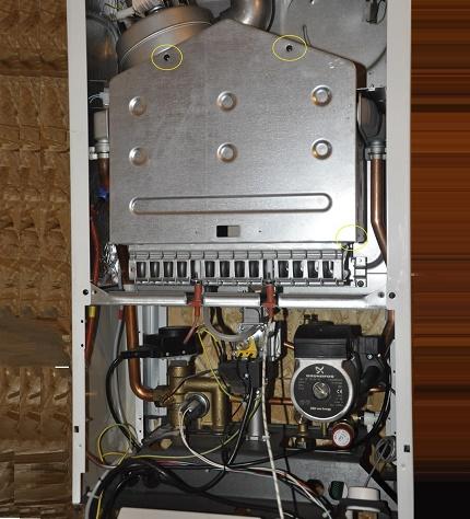 Remontage d'une chaudière à gaz convertie