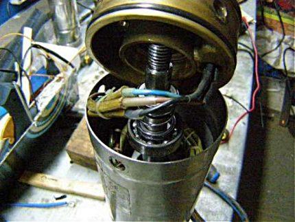 Disassembled submersible pump