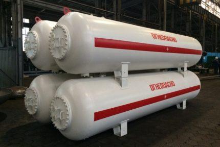 Tanks for LPG (propane-butane)