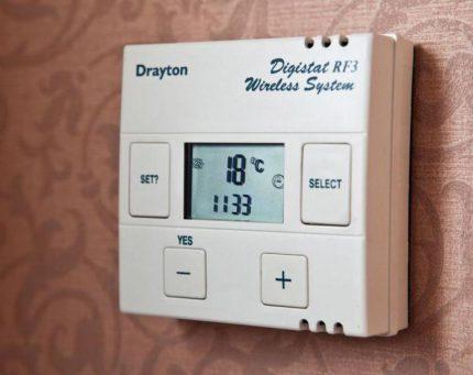 Temperature programmer for gas boiler
