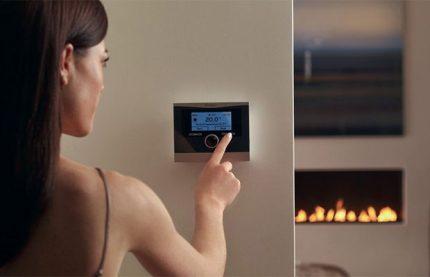 Enerģijas taupīšana ar termostatu