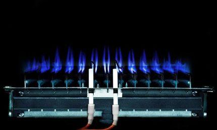 Burner in a gas boiler