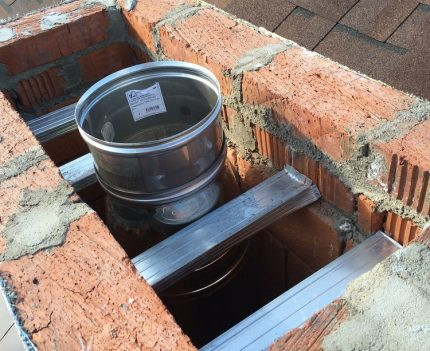 Chimney replacement in a private house