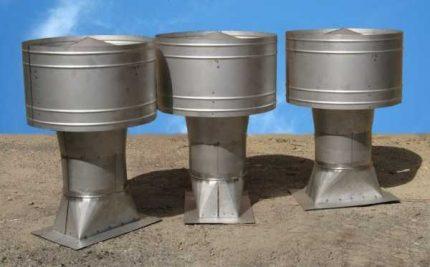 Volpert deflector for chimney