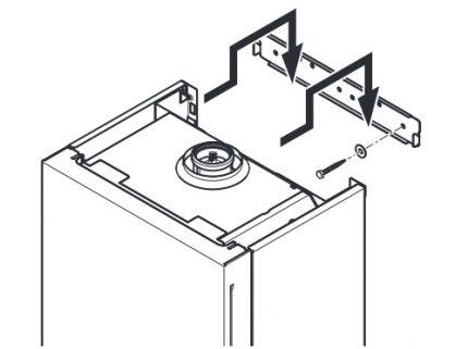 Montage d'une chaudière à gaz