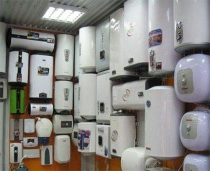 A wide range of water heaters