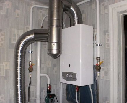 Typical gas boiler