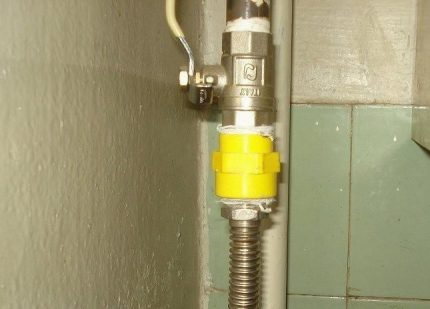 Insert diélectrique pour conduite de gaz