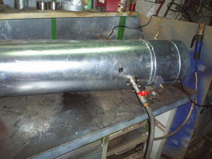 Construction of a gas heat gun