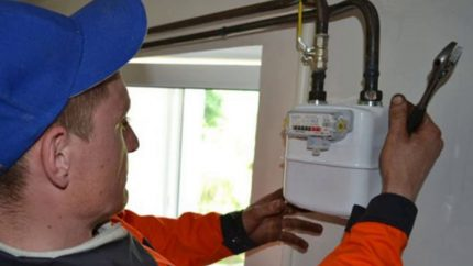 Gas meter check