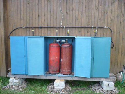Cylindres sur le site