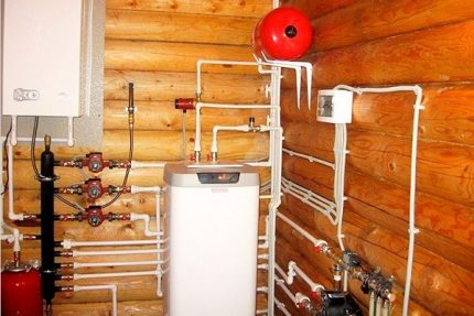 Heating system in a private house