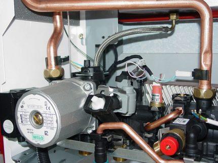 Built-in boiler circulation pump