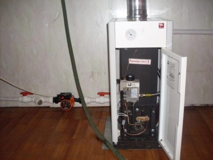Switching off the floor boiler