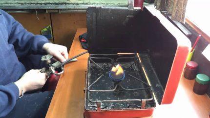 Réchaud à gaz 1 brûleur