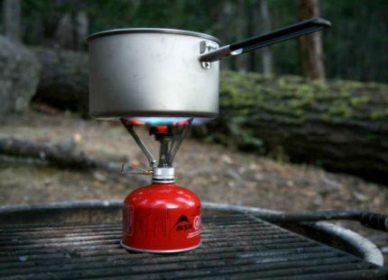 Bouteille de gaz avec brûleur