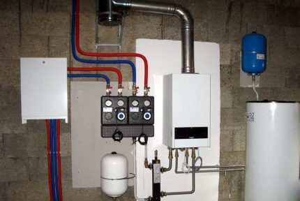 Gas boiler and boiler in a private house