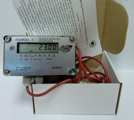 Thermal corrector gas meter