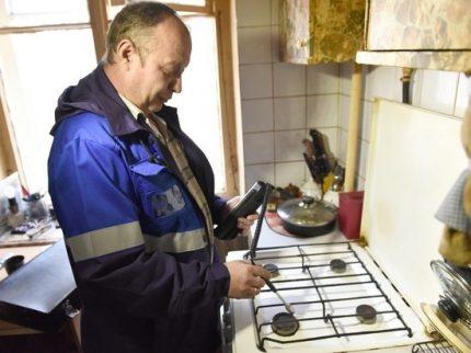 Checking gas appliances