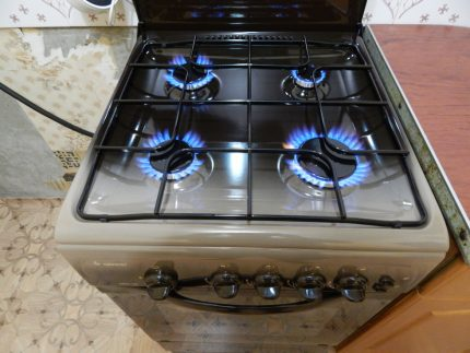 Included gas stove