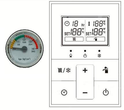 Panneau de commande de chauffage au gaz