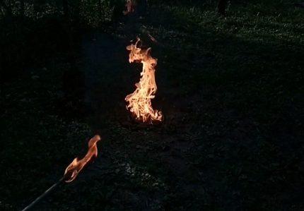 Brûler les résidus de gaz