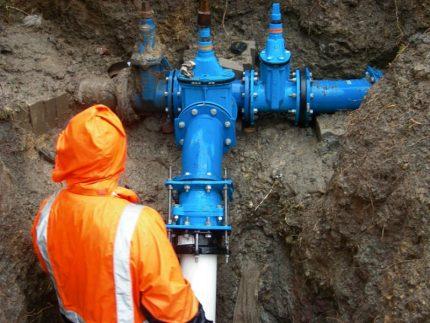 Piège à eau dans le gazoduc