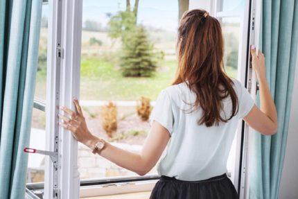 Open window in case of gas leak