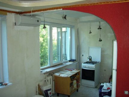 Remodeling kitchen with gas