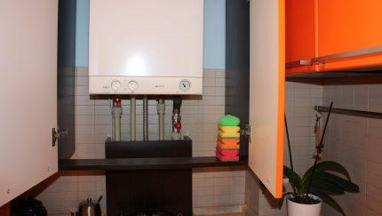 Placement d'une chaudière à gaz dans la cuisine